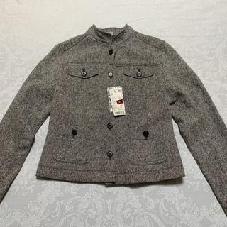 ユニクロ薄手ツィード地のスタンドネックジャケット、Lサイズ。未使...