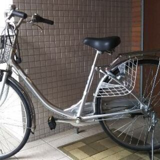 ブリジチストン 3段変速自転車 シルバー