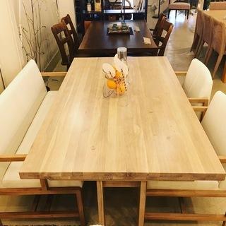 シギヤマ家具工業 リビングダイニングテーブル4点セット テーブル...