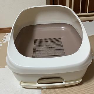 猫トイレ デオトイレ 猫用トイレ本体 ハーフカバー本体 ユニチャーム