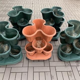 いちご プランター 3段5セット / イチゴ タワーポット