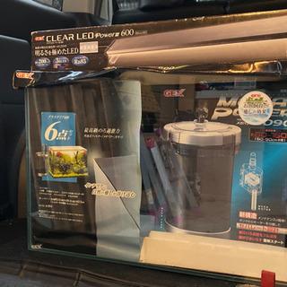 未使用品!水槽一式、グラステリア600セット、CLEAR …