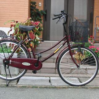 中古自転車   24インチ ママチャリ 馬蹄カギ付★組立整備士が整備