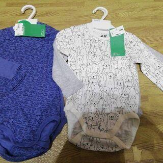 新品子供服 ボディ下着 75サイズ四枚 H&M