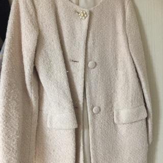 レディース 冬コート お嬢様風 ピンク