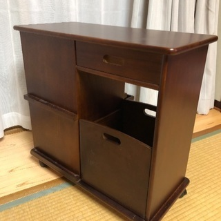 移動式サイドテーブル  キャスター付 - 家具