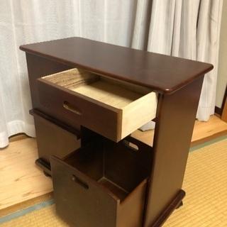 移動式サイドテーブル  キャスター付 − 栃木県