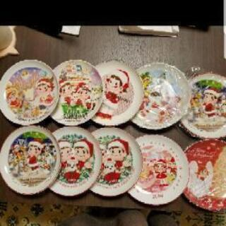 ペコちゃんのクリスマスプレート10枚セット