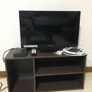 テレビ24型 リモコン アンテナケーブル 分配器 HDD2TB ...