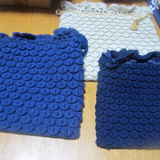 【未使用品】手編みの巾着袋