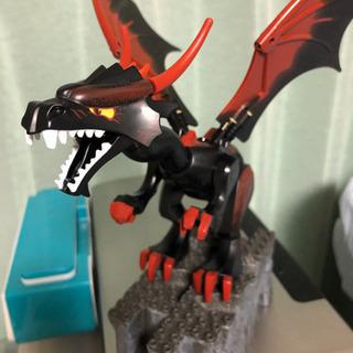 【美品中古レア】 LEGO ブラックドラゴン1頭 部品全揃