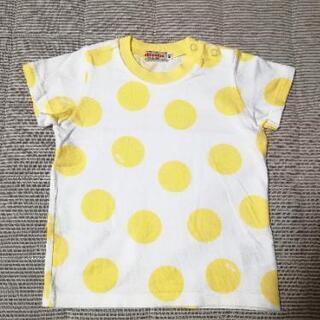 ミキハウス 水玉 Tシャツ 80 日本製 1回着