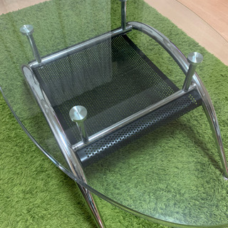 ニトリ ガラステーブル ブラック