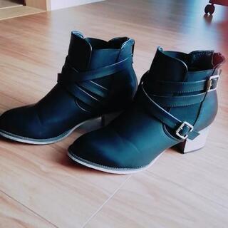 23.5 ショートブーツ黒 S~M