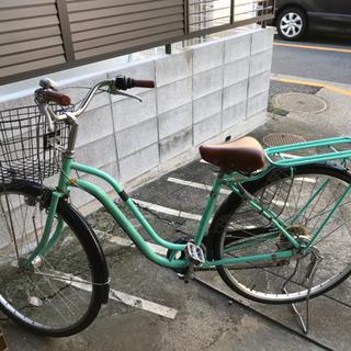 割と美品のギア付き自転車
