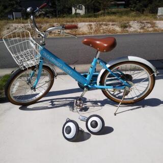 子供用自転車  18インチ 補助輪付き