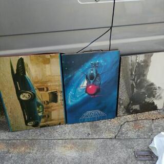 昭和レトロ 中古 木製パネル 車 SL 宇宙戦艦ヤマト 看板