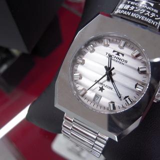 TECHNOS/テクノス ボラゾン クオーツ メンズ腕時計 タン...