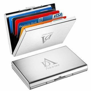 クレジットカードケース カードケース ステンレス鋼 スロット六つ...