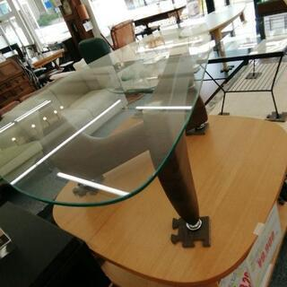 676 デザイナーズ ガラステーブル