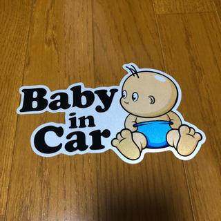 未使用品 baby  in car ステッカー
