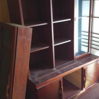 収納家具、食器棚、本棚   【スライド扉有り】