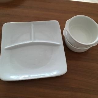 プレートとグラタン皿のセット