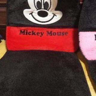 ミッキーとミニーのシートカバー お値下げ