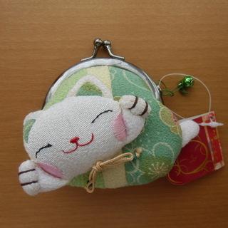 ちりめん財布 招き猫※未使用品