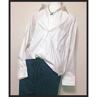 ご購入者様決定【titivate】白シャツボタンシャツゆるシルエ...