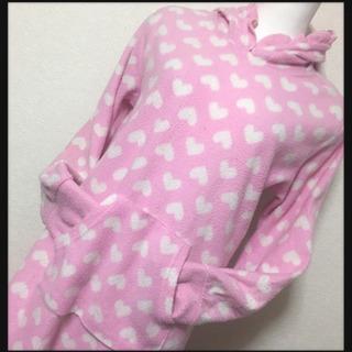 ご購入者様決定 ルームウェア パジャマ フリース ピンク ハート柄