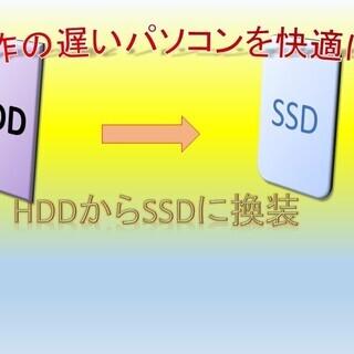 動作の重いパソコン ハードディスクからSSDに交換します