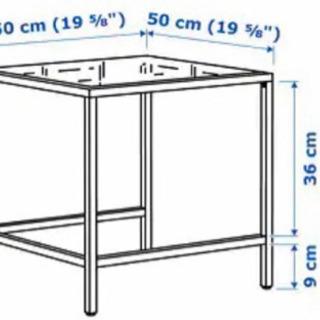 値下中 IKEA VITTSJOネストテーブル ホワイト ガラス