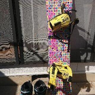 スノーボード140cm、バインディング、スノーボードブーツ