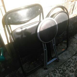 中古 パイプ椅子 三点セット