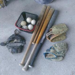 まとめて 野球セット/グローブ バット ボール