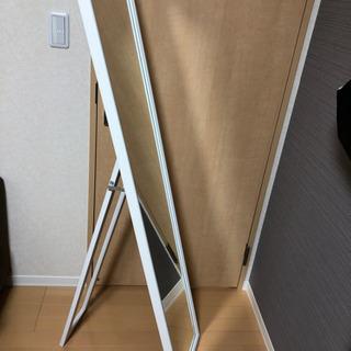 全身鏡 白 IKEA お譲りします。
