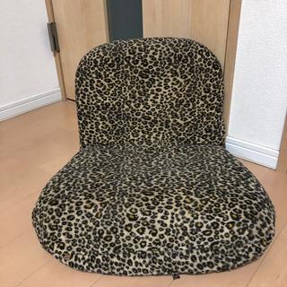 ヒョウ柄 ミニ座椅子