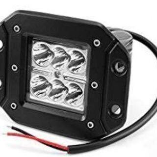 LED スポットライト(新品2個セット)集中光3wLEDx6個タ...