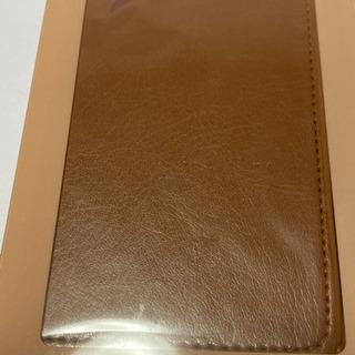 iphone11 ブラウン 手帳型カバー 新品 液晶保護フィルム付