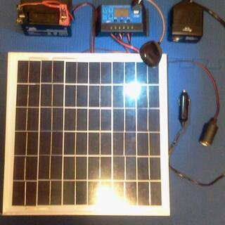 太陽光発電キット12000円 ソーラーパネル バッテリー 充電コ...