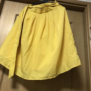 黄色スカート
