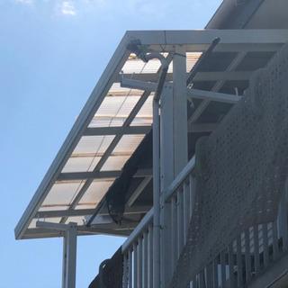 台風前後の対策 被害  波板交換