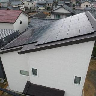 太陽光パネル工事、塗装作業