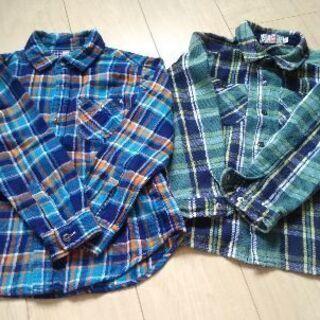 子供服・キッズ服・2枚セット・シャツ・120㌢