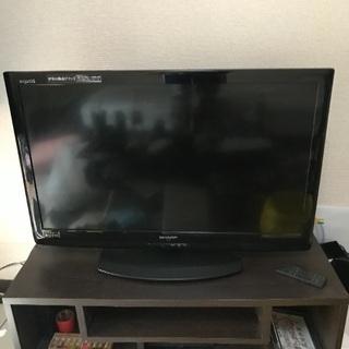 テレビ台とアクオス32インチテレビ