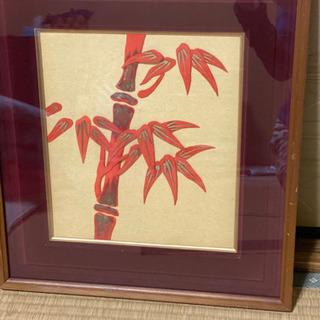 絵画 パッチワーク 竹