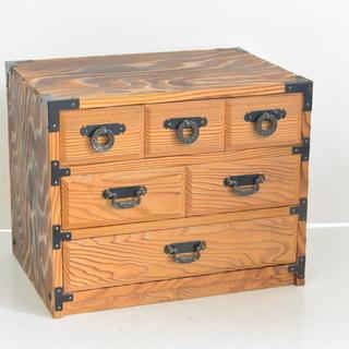 昭和レトロ かわいい卓上和箪笥 3段小箪笥 小物入れ 収納箱 引...