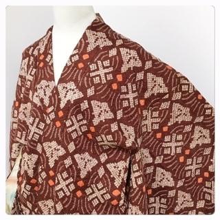 総絞り 羽織紐付き 羽織 特選 逸品 花模様 正絹