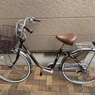 ほぼ新品の自転車(日本製ママチャリ) Panasonic 26型...